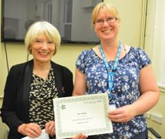 Leisha Fullick and Star of the Month Pam Hodge