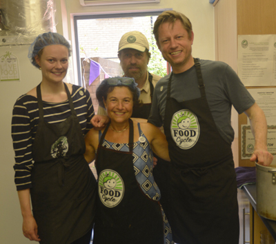 TV chef Oliver Rowe and team from FoodCycle