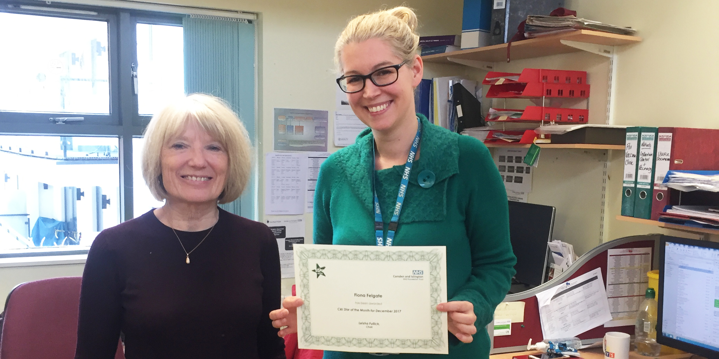 Fiona Felgate star of the month December