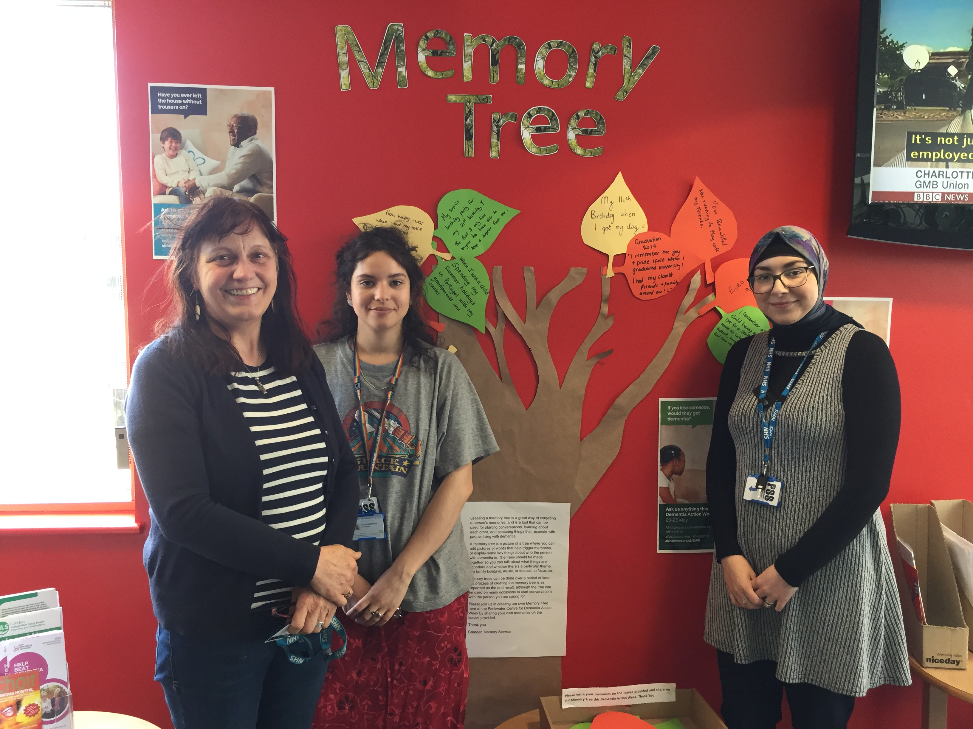 Memory tree at Peckwater Centre