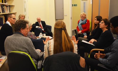 Alistair Burt meets service users at The Recovery College