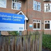 Shot of the entrance to the Daleham Gardens building showing main sign